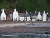 View of ythe cottage from the seashore