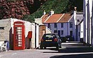 Red telephone box as featured in the film Local hero, starring Burt Lancaster